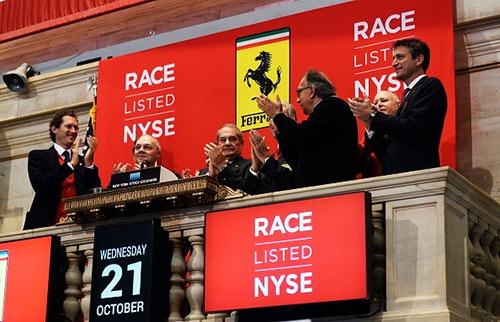 Ferrari entrou na Bolsa de Valores NYSE a 21 de outubro de 2015
