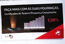 Certificados do Tesouro Poupança Crescimento são um MAU INVESTIMENTO!! Rendem 0%.