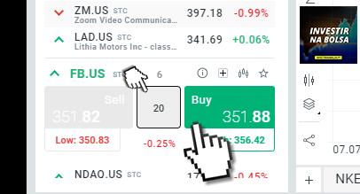 Comprar Rápido Ações (Ordem de Mercado)
