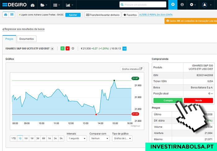 Como investir no S&P 500 na DEGIRO