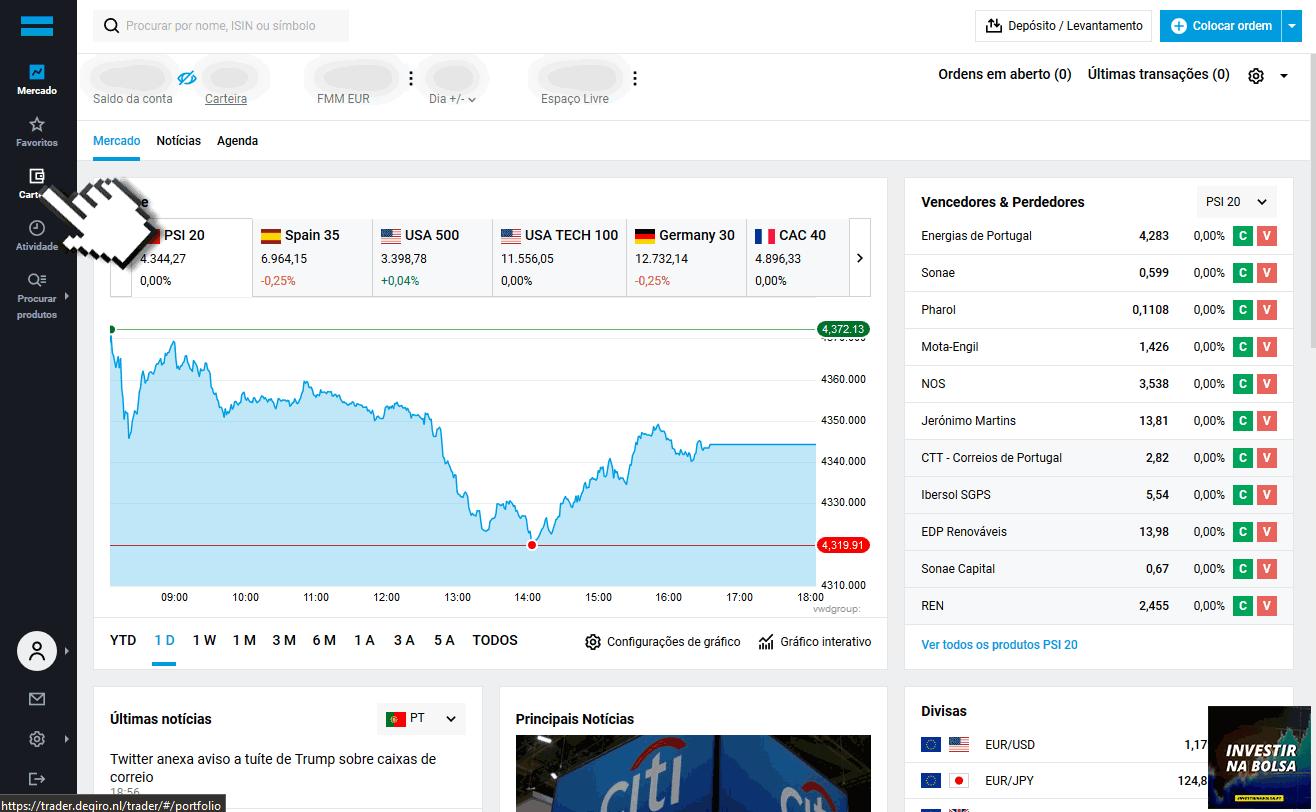 Como vender ações na DEGIRO