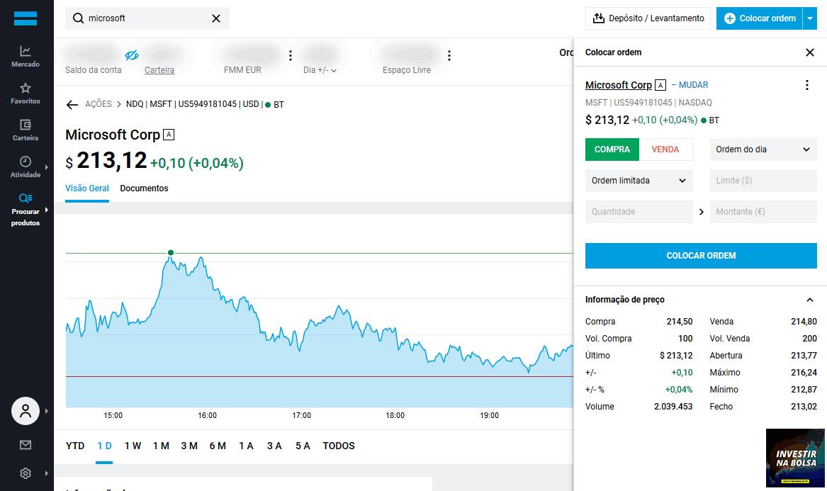 Passos para comprar ações na DEGIRO