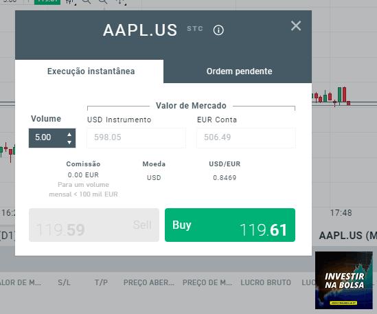 Comprar ações na plataforma xStation 5