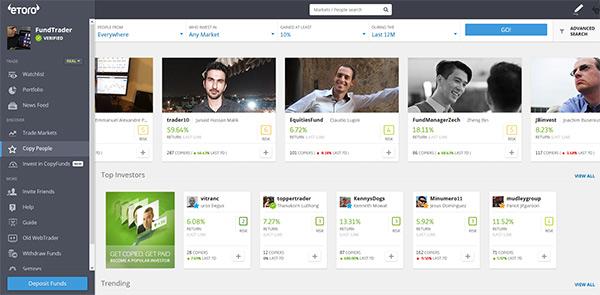 Plataforma Etoro para copiar traders