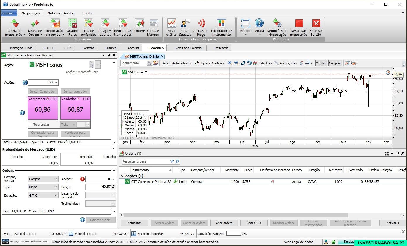 Criar conta para usar o Simulador de Bolsa