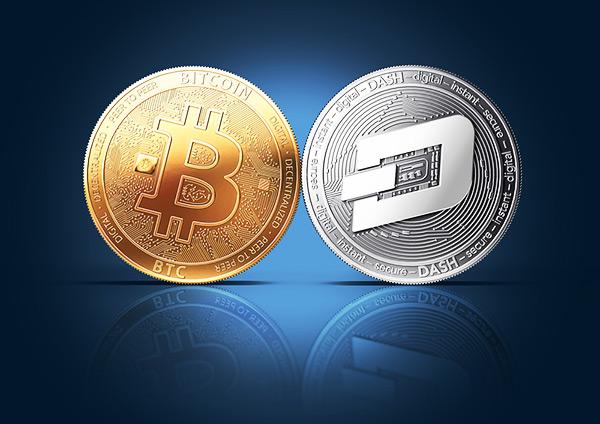 Criptomoeda DASH e Bitcoin