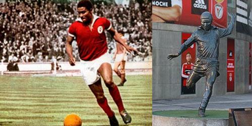 Eusébio da Silva Ferreira, um dos símbolos do Benfica.