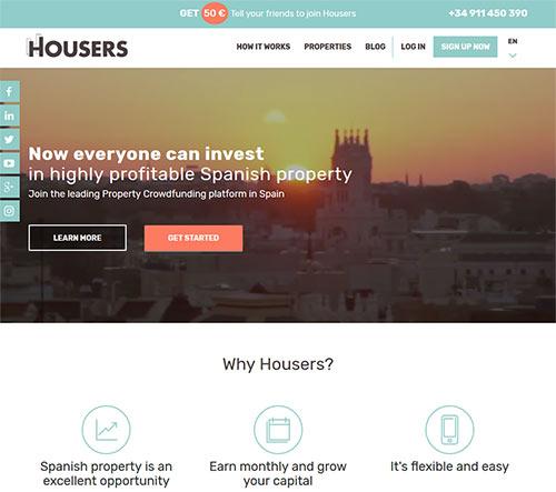 Investir na Housers - Empréstimos Coletivos em Imóveis