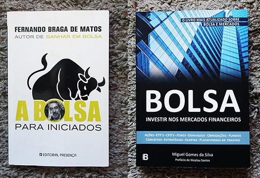 livro A Bolsa para Iniciados e Bolsa Investir nos Mercados Financeiros