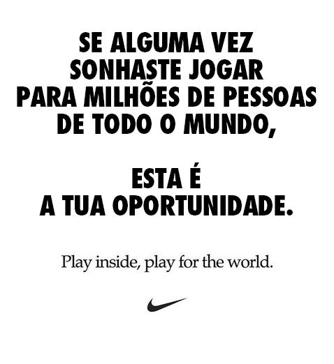 Mensagem da Nike sobre Coronavírus