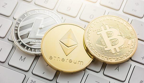 Moedas virtuais Litecoin, Bitcoin e Ethereum