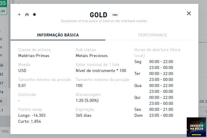 Negociar o CFD de Ouro na XTB