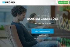 Promoção 1.000€ em comissões na DEGIRO
