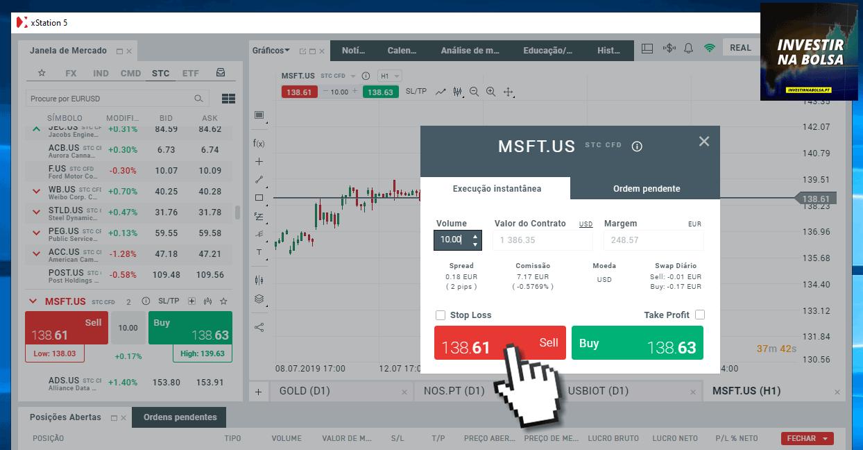 Short selling na XTB
