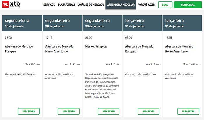 Webinários na XTB Portugal